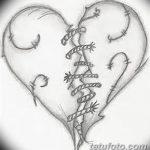 фото Эскизы тату Сердце от 20.06.2018 №025 - Sketches Tattoo Heart - tatufoto.com