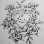 фото Эскизы тату Сердце от 20.06.2018 №027 - Sketches Tattoo Heart - tatufoto.com