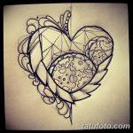 фото Эскизы тату Сердце от 20.06.2018 №029 - Sketches Tattoo Heart - tatufoto.com