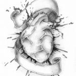 фото Эскизы тату Сердце от 20.06.2018 №033 - Sketches Tattoo Heart - tatufoto.com