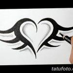 фото Эскизы тату Сердце от 20.06.2018 №034 - Sketches Tattoo Heart - tatufoto.com