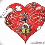 фото Эскизы тату Сердце от 20.06.2018 №035 - Sketches Tattoo Heart - tatufoto.com