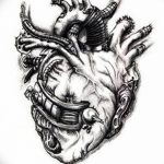 фото Эскизы тату Сердце от 20.06.2018 №040 - Sketches Tattoo Heart - tatufoto.com