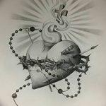 фото Эскизы тату Сердце от 20.06.2018 №045 - Sketches Tattoo Heart - tatufoto.com