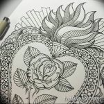 фото Эскизы тату Сердце от 20.06.2018 №046 - Sketches Tattoo Heart - tatufoto.com