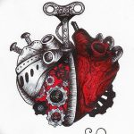 фото Эскизы тату Сердце от 20.06.2018 №050 - Sketches Tattoo Heart - tatufoto.com