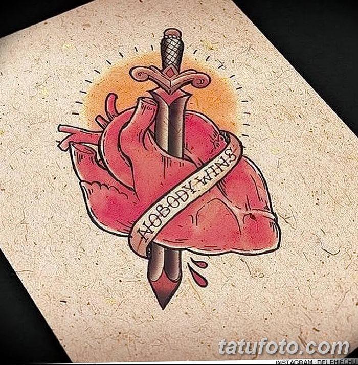 фото Эскизы тату Сердце от 20.06.2018 №060 - Sketches Tattoo Heart - tatufoto.com