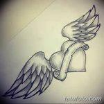 фото Эскизы тату Сердце от 20.06.2018 №067 - Sketches Tattoo Heart - tatufoto.com