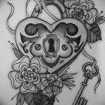 фото Эскизы тату Сердце от 20.06.2018 №070 - Sketches Tattoo Heart - tatufoto.com