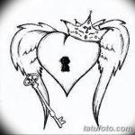фото Эскизы тату Сердце от 20.06.2018 №073 - Sketches Tattoo Heart - tatufoto.com