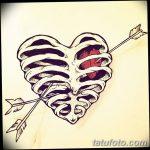 фото Эскизы тату Сердце от 20.06.2018 №077 - Sketches Tattoo Heart - tatufoto.com