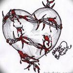фото Эскизы тату Сердце от 20.06.2018 №078 - Sketches Tattoo Heart - tatufoto.com