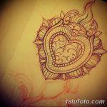фото Эскизы тату Сердце от 20.06.2018 №083 - Sketches Tattoo Heart - tatufoto.com