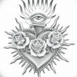фото Эскизы тату Сердце от 20.06.2018 №094 - Sketches Tattoo Heart - tatufoto.com