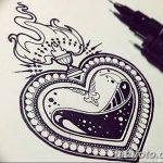 фото Эскизы тату Сердце от 20.06.2018 №105 - Sketches Tattoo Heart - tatufoto.com