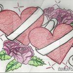 фото Эскизы тату Сердце от 20.06.2018 №129 - Sketches Tattoo Heart - tatufoto.com