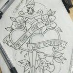 фото Эскизы тату Сердце от 20.06.2018 №140 - Sketches Tattoo Heart - tatufoto.com