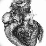 фото Эскизы тату Сердце от 20.06.2018 №147 - Sketches Tattoo Heart - tatufoto.com