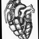 фото Эскизы тату Сердце от 20.06.2018 №175 - Sketches Tattoo Heart - tatufoto.com
