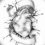 фото Эскизы тату Сердце от 20.06.2018 №186 - Sketches Tattoo Heart - tatufoto.com