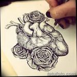 фото Эскизы тату Сердце от 20.06.2018 №207 - Sketches Tattoo Heart - tatufoto.com