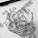 фото Эскизы тату Сердце от 20.06.2018 №211 - Sketches Tattoo Heart - tatufoto.com