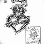 фото Эскизы тату Сердце от 20.06.2018 №231 - Sketches Tattoo Heart - tatufoto.com