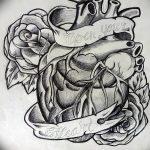фото Эскизы тату Сердце от 20.06.2018 №247 - Sketches Tattoo Heart - tatufoto.com