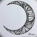 фото Эскизы тату полумесяц от 18.06.2018 №001 - Sketches of a moon tattoo - tatufoto.com