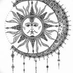фото Эскизы тату полумесяц от 18.06.2018 №002 - Sketches of a moon tattoo - tatufoto.com