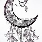 фото Эскизы тату полумесяц от 18.06.2018 №004 - Sketches of a moon tattoo - tatufoto.com