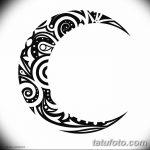 фото Эскизы тату полумесяц от 18.06.2018 №005 - Sketches of a moon tattoo - tatufoto.com