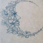 фото Эскизы тату полумесяц от 18.06.2018 №006 - Sketches of a moon tattoo - tatufoto.com