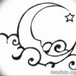 фото Эскизы тату полумесяц от 18.06.2018 №008 - Sketches of a moon tattoo - tatufoto.com