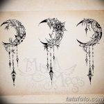 фото Эскизы тату полумесяц от 18.06.2018 №009 - Sketches of a moon tattoo - tatufoto.com