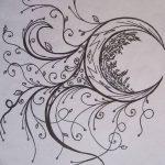 фото Эскизы тату полумесяц от 18.06.2018 №012 - Sketches of a moon tattoo - tatufoto.com