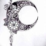 фото Эскизы тату полумесяц от 18.06.2018 №013 - Sketches of a moon tattoo - tatufoto.com