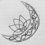 фото Эскизы тату полумесяц от 18.06.2018 №017 - Sketches of a moon tattoo - tatufoto.com