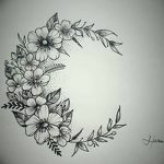 фото Эскизы тату полумесяц от 18.06.2018 №018 - Sketches of a moon tattoo - tatufoto.com
