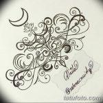 фото Эскизы тату полумесяц от 18.06.2018 №021 - Sketches of a moon tattoo - tatufoto.com