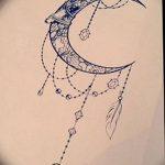 фото Эскизы тату полумесяц от 18.06.2018 №023 - Sketches of a moon tattoo - tatufoto.com