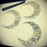 фото Эскизы тату полумесяц от 18.06.2018 №024 - Sketches of a moon tattoo - tatufoto.com