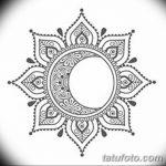 фото Эскизы тату полумесяц от 18.06.2018 №025 - Sketches of a moon tattoo - tatufoto.com