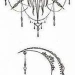 фото Эскизы тату полумесяц от 18.06.2018 №026 - Sketches of a moon tattoo - tatufoto.com