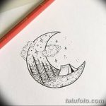 фото Эскизы тату полумесяц от 18.06.2018 №028 - Sketches of a moon tattoo - tatufoto.com