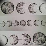 фото Эскизы тату полумесяц от 18.06.2018 №033 - Sketches of a moon tattoo - tatufoto.com