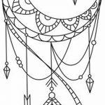фото Эскизы тату полумесяц от 18.06.2018 №037 - Sketches of a moon tattoo - tatufoto.com