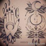 фото Эскизы тату полумесяц от 18.06.2018 №038 - Sketches of a moon tattoo - tatufoto.com