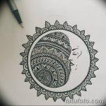 фото Эскизы тату полумесяц от 18.06.2018 №040 - Sketches of a moon tattoo - tatufoto.com