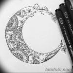 фото Эскизы тату полумесяц от 18.06.2018 №043 - Sketches of a moon tattoo - tatufoto.com